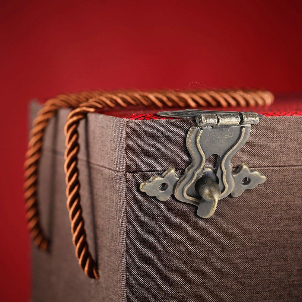 Fdit 10 St/ück Vintage Hasp Box Schloss Latch dekorative Retro Bronze gravierte Designs Treasures Boxen Hasp Lock mit Schrauben f/ür Holz-Boxen Schmuck Box Card Box Cabinet Hardware MEHRWEG VERPAKUNG