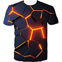 SunFocus Camisetas Manga Corta Hombre Verano Estampado Gráfico 3D Camiseta Divertido Ajuste Slim Casual T Shirt Tops…