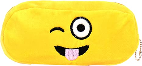 Chords Winking and Tongue Out Emoji Pencil Pen Pouch Toys & Bags