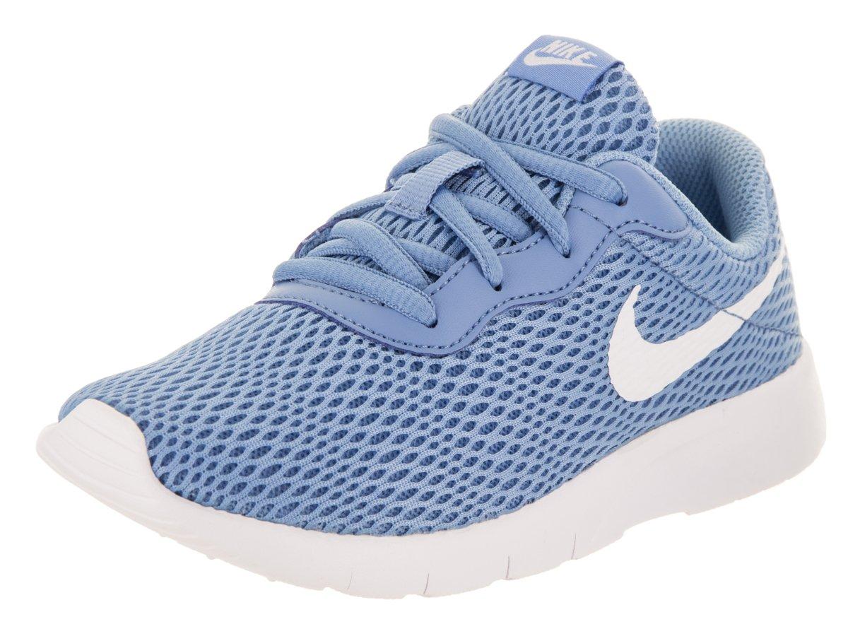 Nike Girl's Tanjun Running Shoe, December Sky/White-Thunder Blue 1Y