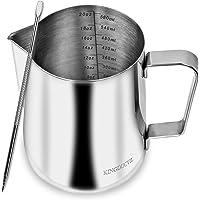 Jarra de espuma de leche, taza de espumador de leche de 600 ml, jarra de vapor de espresso, jarra de arte latte, jarra…