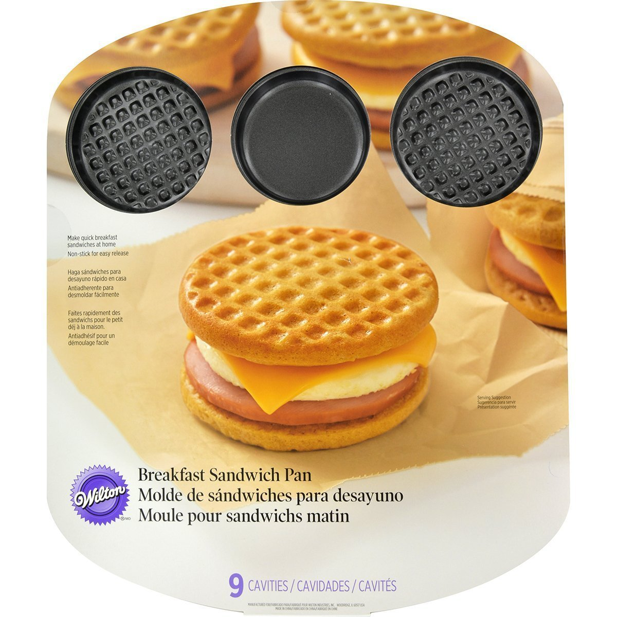 Wilton 2105-8450 9 Cavity Breakfast Sandwich Pan by Wilton [並行輸入品] B017YAKBSE