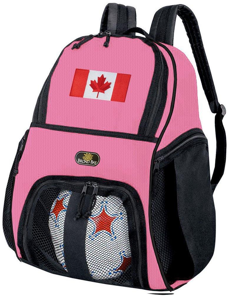 Girlsカナダ国旗サッカーボールバックパックまたはレディースバレーボールバッグボールキャリア B01EVFIWSG