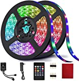 LED Strip Lights, Light Strip RGB 32.8FT/10M 20Key, Music Sync Color Changing, Rope Light 600 SMD 3528 LED, IR Remote…