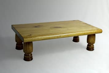 """Details about  /L@@K Monitor Stand Pine 1/"""" Golden Oak 30x11.25x4.88 CARVED GEARS Wood Riser NEW"""