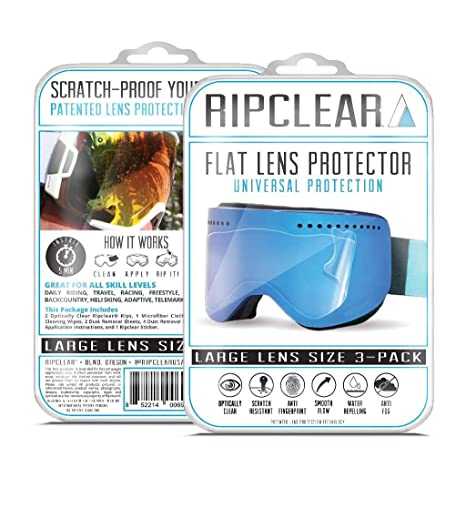3303c19deb10 RIPCLEAR Spy Raider Snow Goggle Lens Protector Kit - Scratch-Resistant,  Crystal Clear -