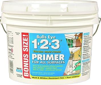 Rust Oleum 02025 Zinsser Bulls Eye 1 2 3 Primer Sealer 2 5 Gal House Paint Amazon Com