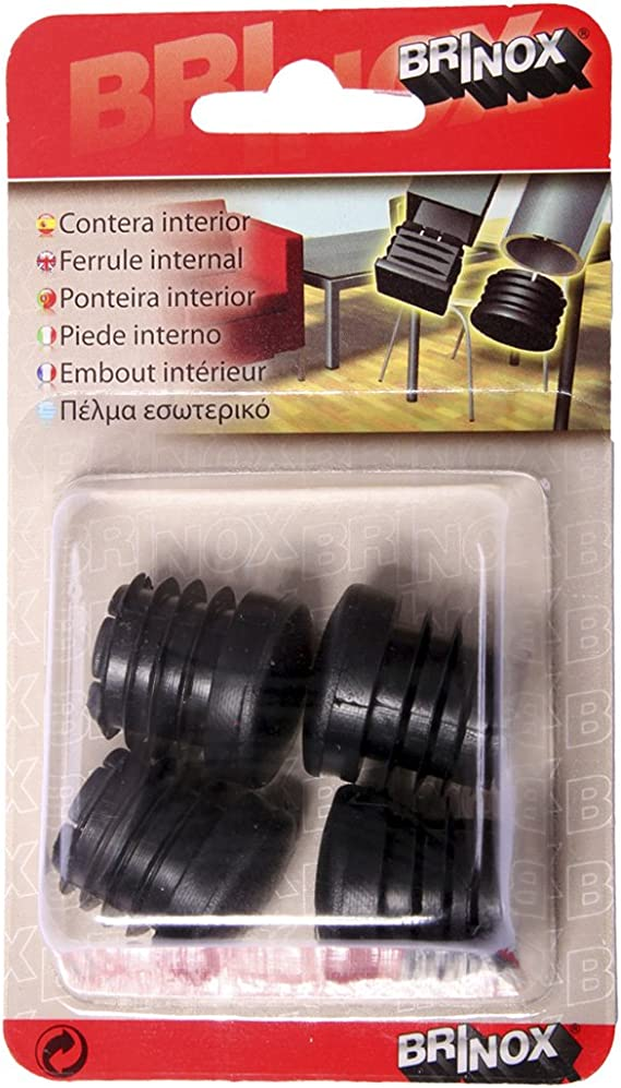 Negro Set de 50 Piezas Brinox B75515N Contera interior redonda Di/ámetro 45 mm