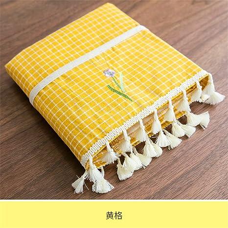 Té rectangular mantel telas café verde almohadilla de algodón fresco una pequeña mesa de comedor salón