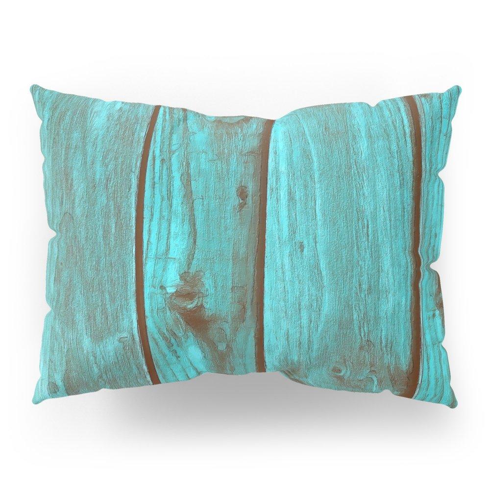Society6 Wood Blue 1 Pillow Sham Standard (20'' x 26'') Set of 2