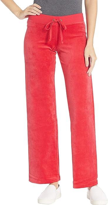 388cde3ea627 Juicy Couture Women s Mar Vista Velour Pants Cordial Petite X-Small 33