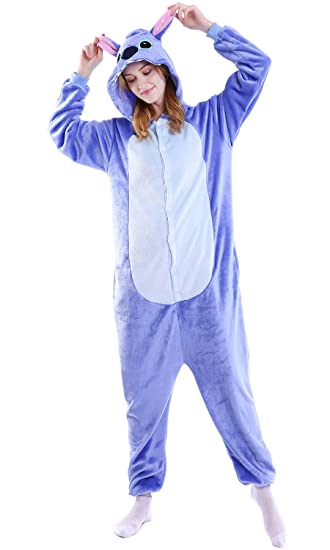 Dolamen Adulto Unisexo Onesies Kigurumi Pijamas, Mujer Hombres Traje Disfraz Animal Pyjamas, Ropa de Dormir Halloween Cosplay Navidad Animales de Vestuario ...