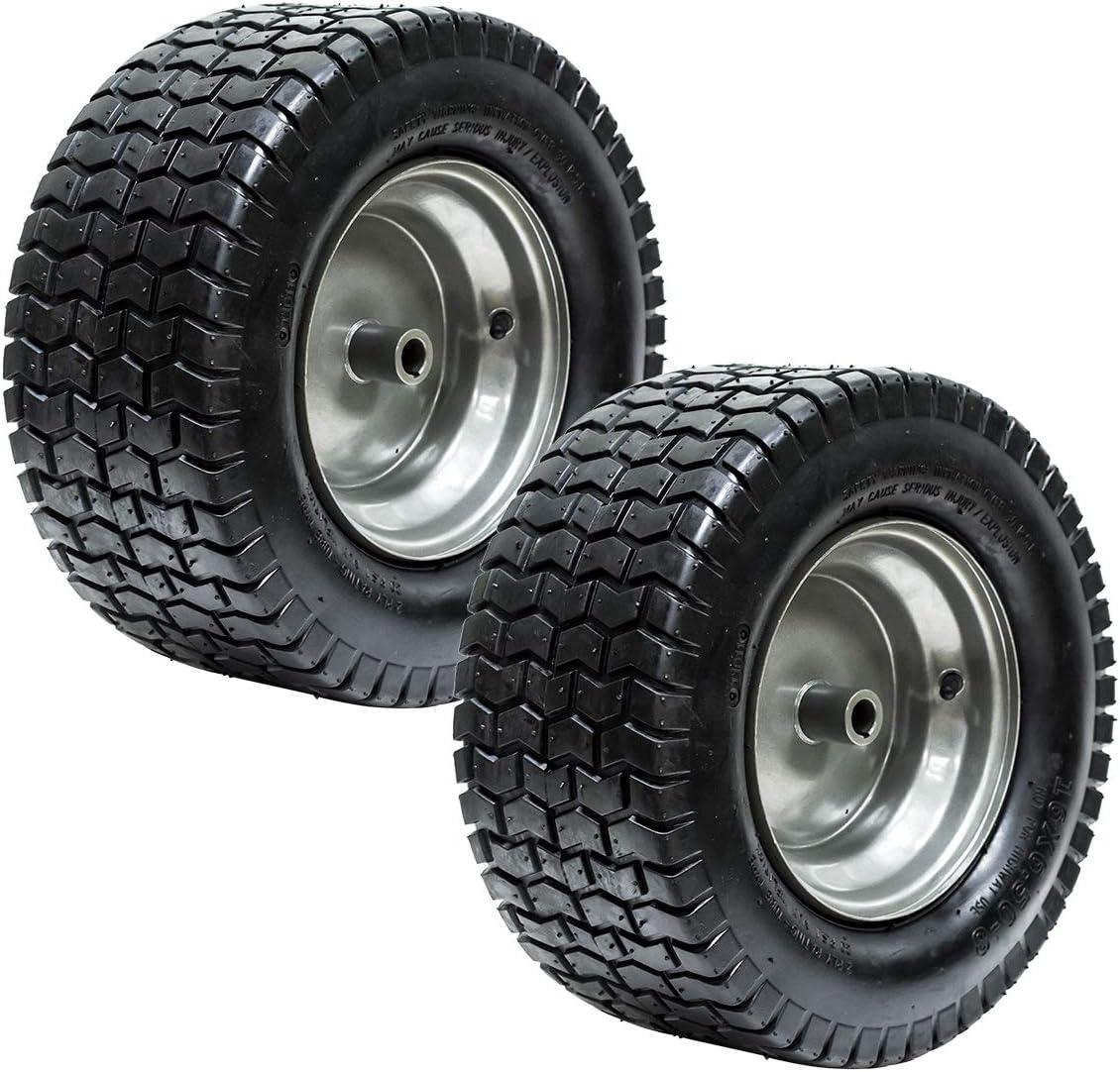 EPR (2) 16x6.50-8 Turf Tire Riding Mower Tractor Rim Wheel Assembly 3/4