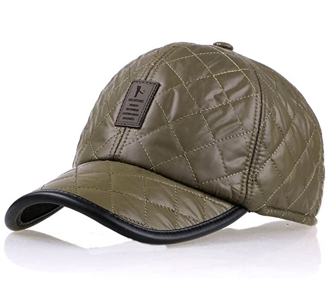 8d7c0ee7c69 REGITWOW Winter Men s Waterproof Quilting Cotton Fleeced Baseball Cap Hat  With Fold Earmuffs