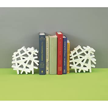 High Quality Umbra Criss Cross Bookends, White Nice Design