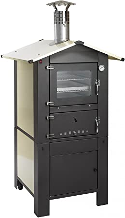 Four à bois à cuisson indirecte d\'extérieur avec plan de cuisson 57 ...