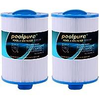POOLPURE Filtro de SPA de 2 Piezas, reemplazo del Filtro de hidromasaje para Unicel 6CH-940, Pleatco PWW50P3, PWW50-P3…