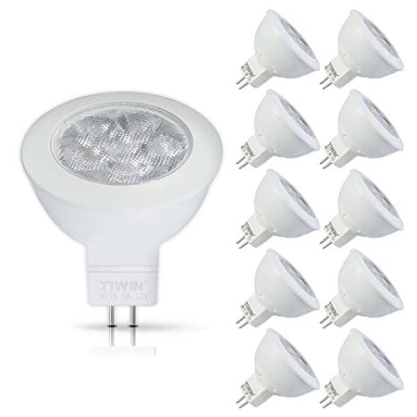10xNUEVA TIWIN GU5.3/MR16 LED Bombilla Lámpara Luz blanco frío 5W ...