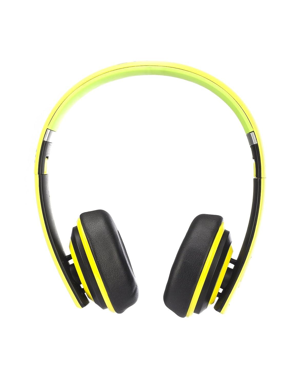 NGS Lime Artica Premium - Auriculares de diadema cerrados con Bluetooth, color negro y amarillo: Amazon.es: Electrónica