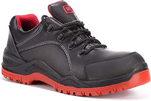 Black Hammer Mens Safety Boots Steel Toe Cap Work Shoes Ankle Trainers Hiker...