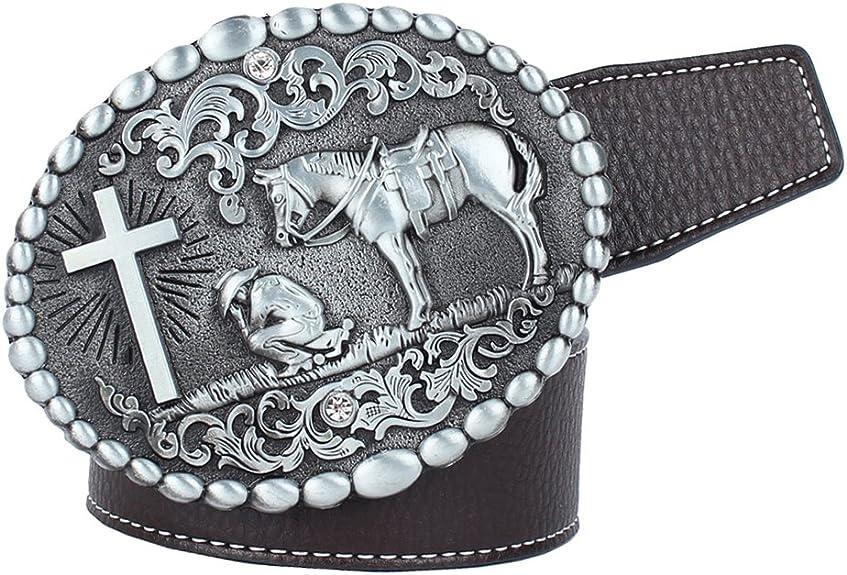 Homyl American Western Cowboy - Cinturón de piel para caballero ...