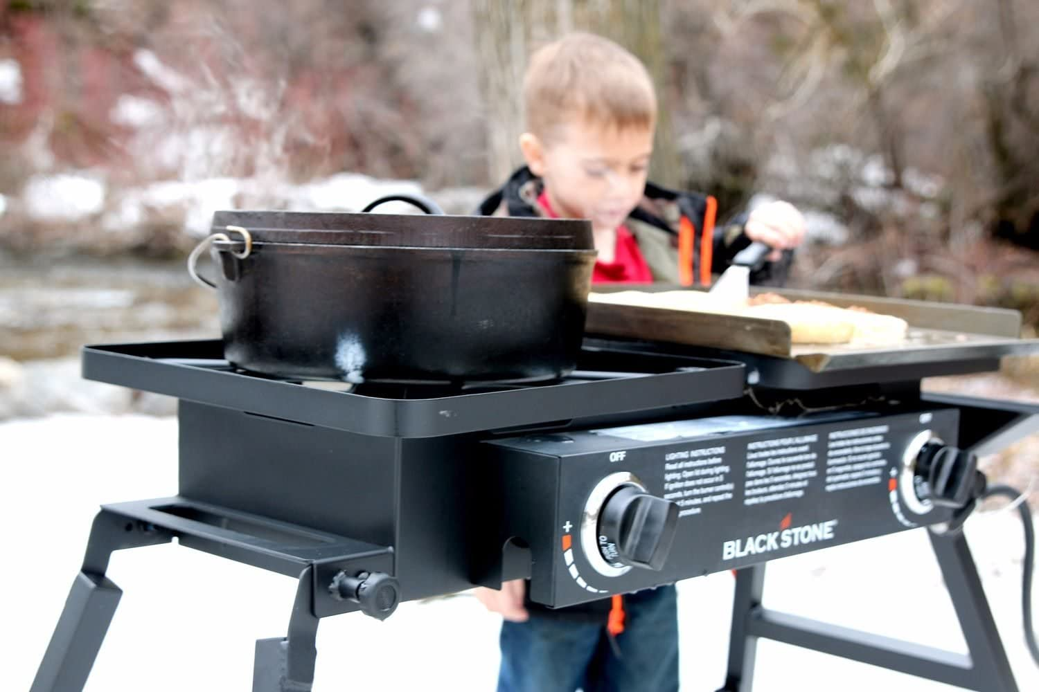 Blackstone Tailgater Portable Gas Grill and Griddle Combo : Garden & Outdoor