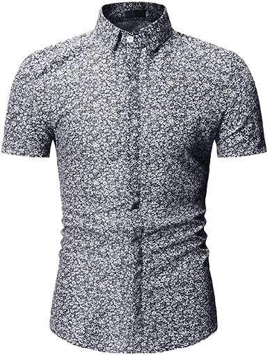 NANSHIZSCS Camisa de hombre Camisa Floral De Verano Impresa para Hombre Camisa Casual De Manga Corta para Hombre, Tallas Grandes, XXXL: Amazon.es: Ropa y accesorios