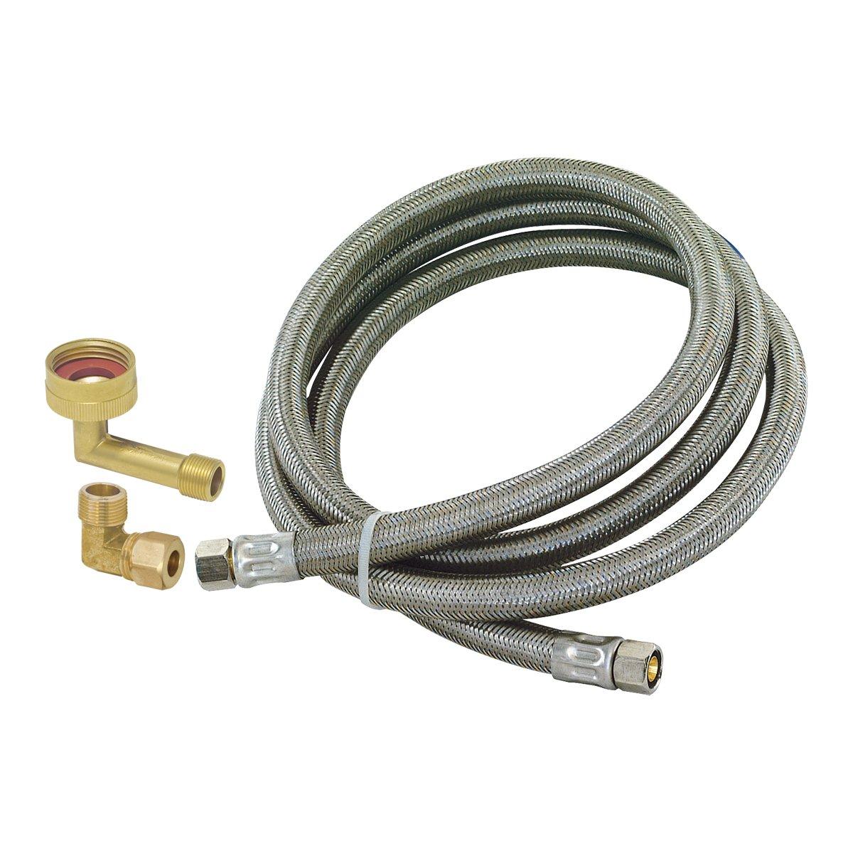 Eastman 41037 Universal Stainless Steel Dishwasher Installation Kit 4'