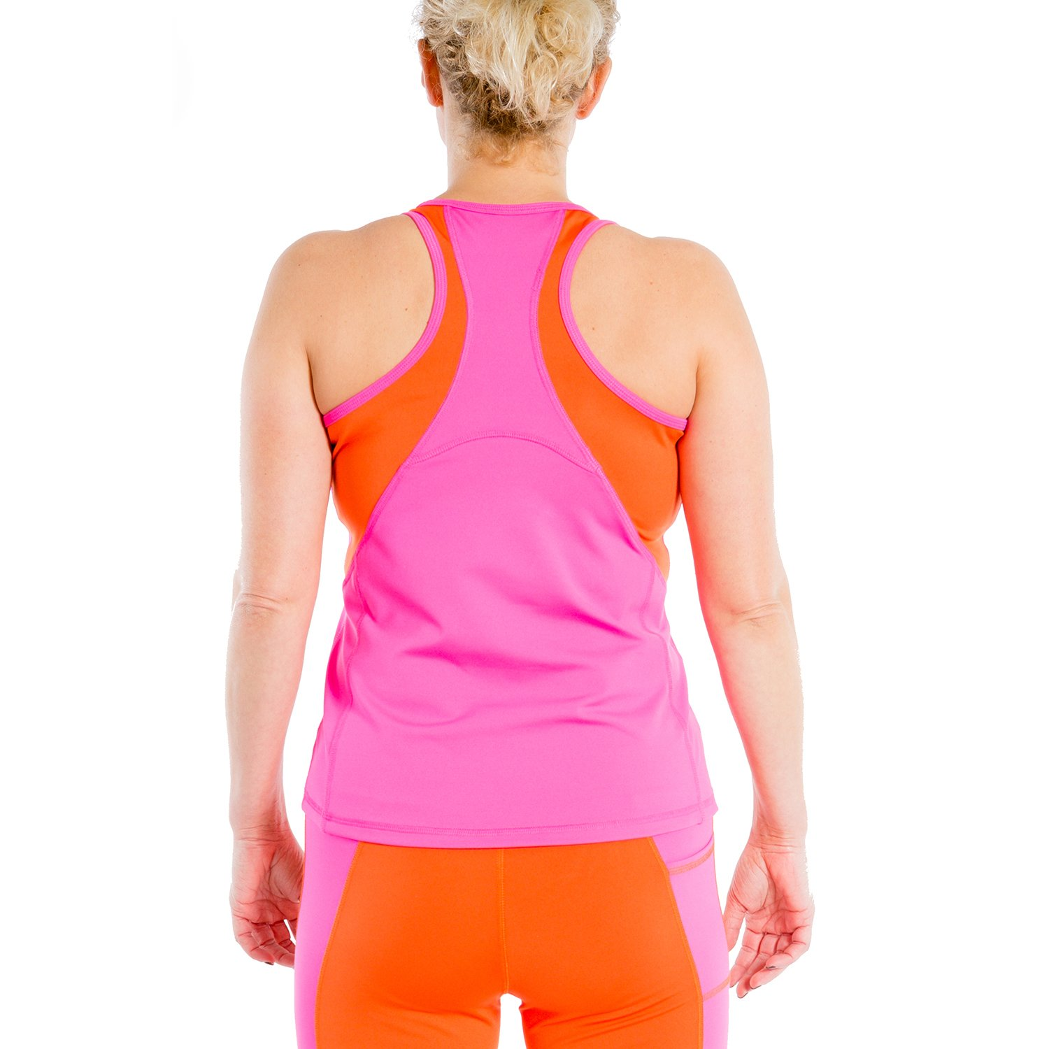 USA Made - Plus Size S - 3XL Full Figure Katie K Active Womens Racerback Tank Top Workout