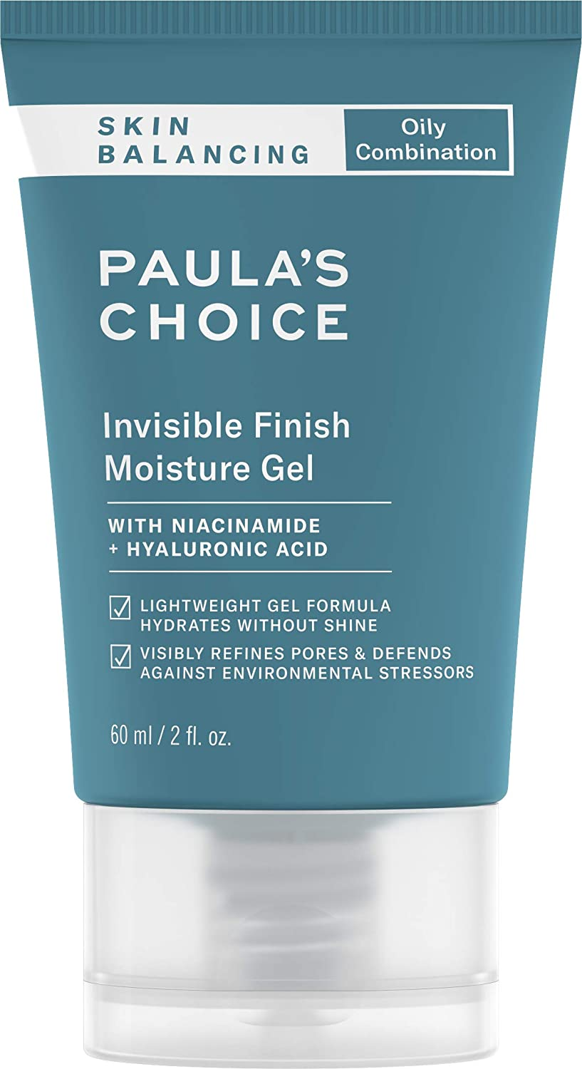 Paula's Choice SKIN BALANCING Invisible Finish Gel Moisturizer with Niacinamide & Hyaluronic Acid, Large Pores & Oily Skin, 2 Ounce