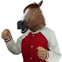 Cusfull Lattice di Gomma novità Halloween Costume Cavallo Testa Maschera Natale Costume Partito Decorazioni Accessorio Adulti