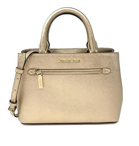 300acd609c96 Michael Kors Hailee Bag XS Satchel Leather Pale Gold (35T8MX2S1M): Amazon.co .uk: Shoes & Bags