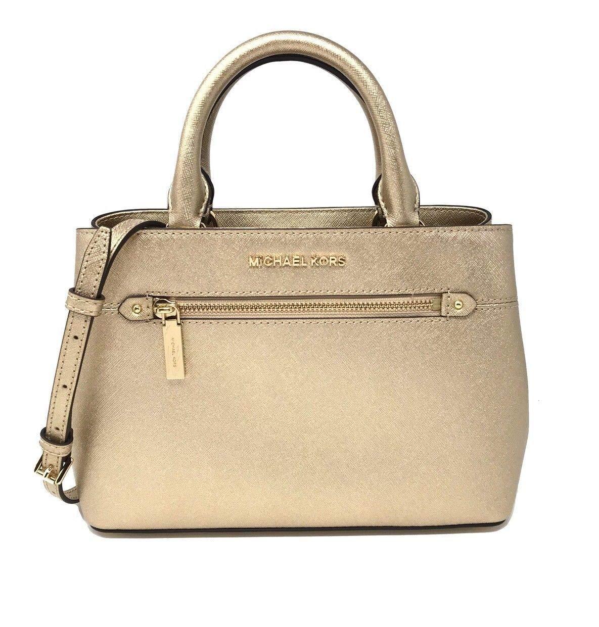 Michael Kors Hailee Bag XS Satchel Leather Pale Gold (35T8MX2S1M)