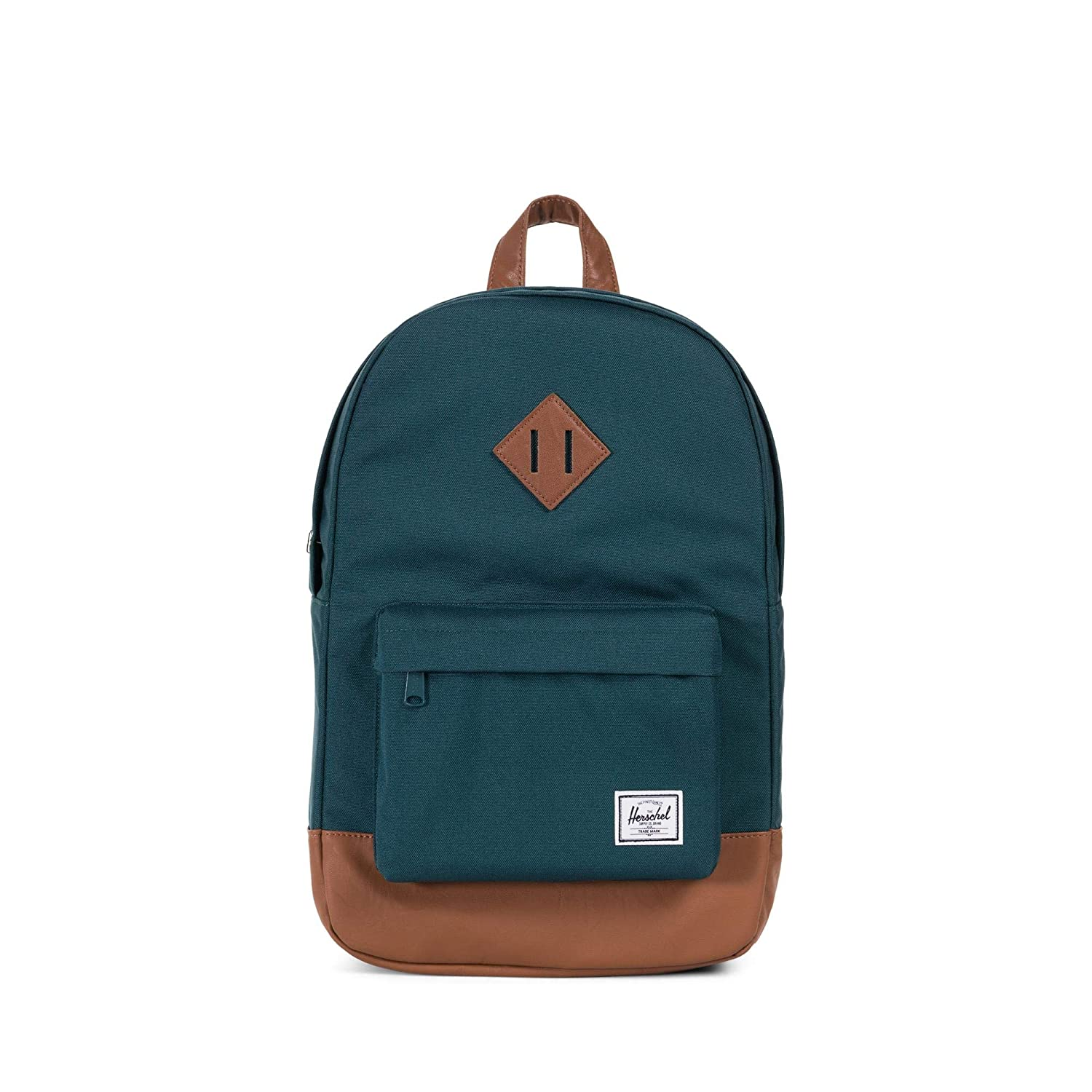 Herschel Heritage Mid-Volume Backpack Deep Teal//Tan Synthetic Leather One Size Herschel Luggage child code 10019-02108-OS