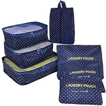 Ubagoo - Organizador para maletas Hombre Mujer Verde azul: Amazon.es: Equipaje