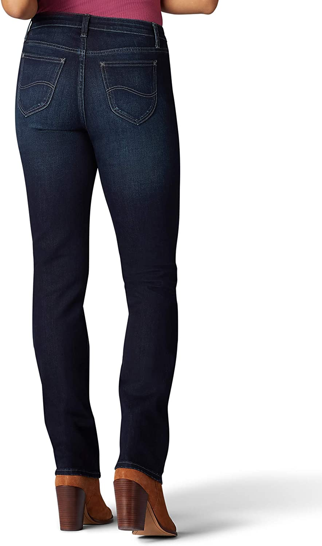 Riders by Lee Indigo Womens Midrise Straight Leg Jean