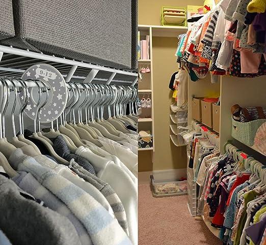 Amazon.com: Paquete de 8 separadores de armario para bebé ...