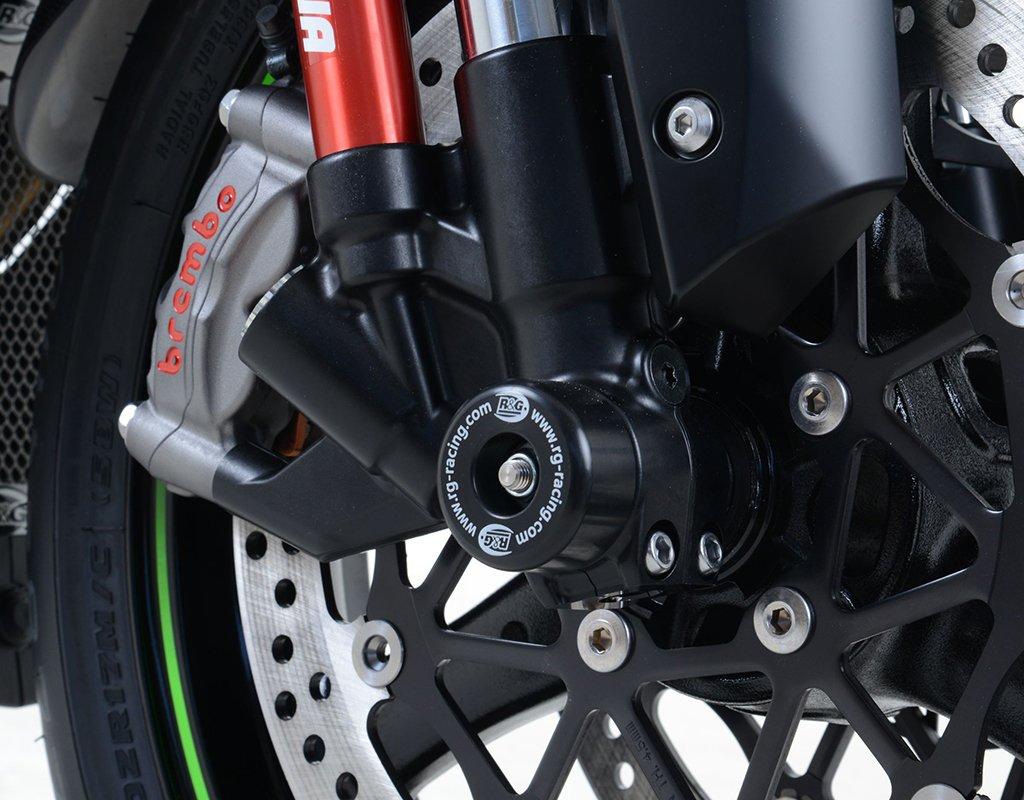R/&G Front Axle Sliders Fork Protectors for Kawasaki ZX10R Ninja 16-18