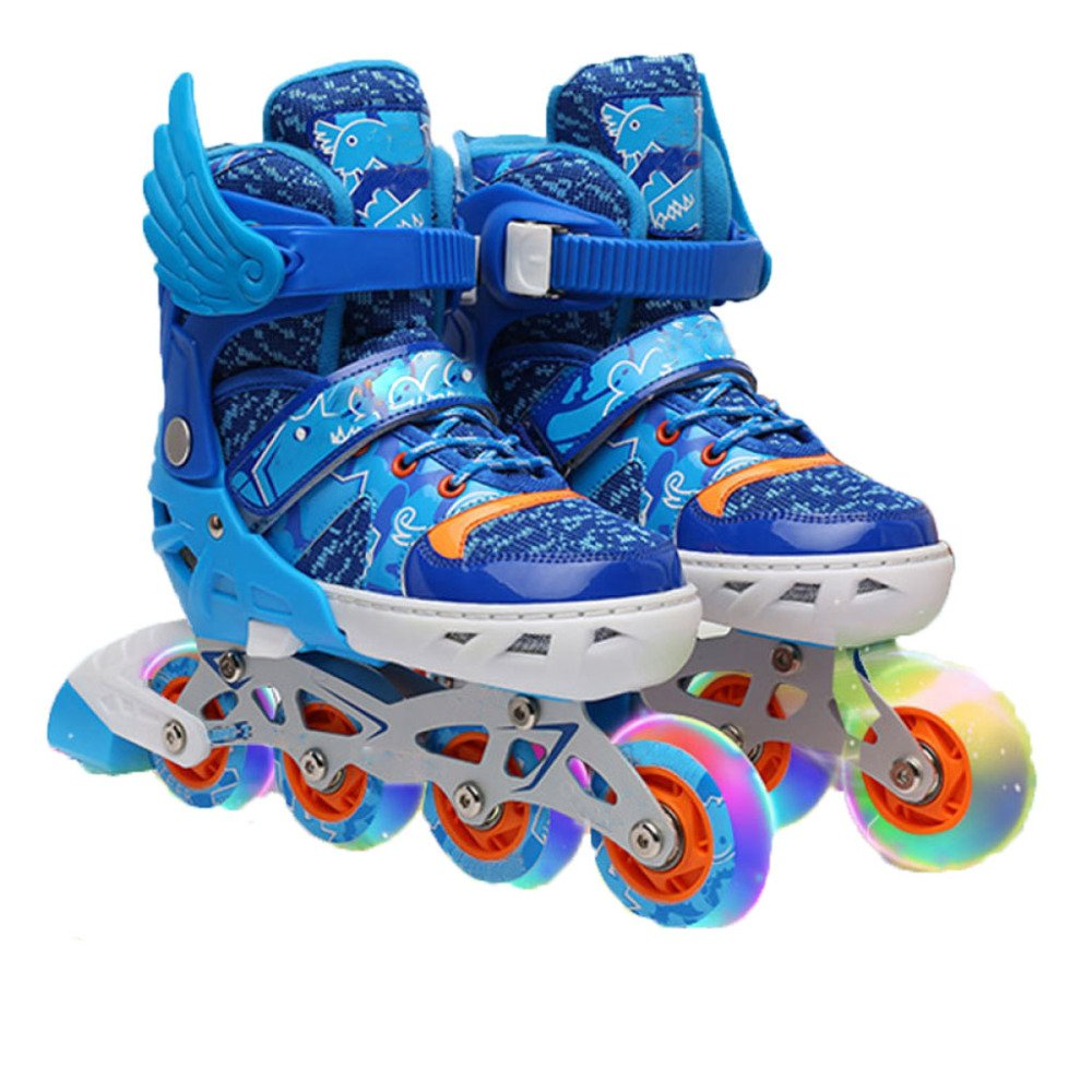 AALHM Children's Skates Set Full Flash Adjustable Size Wear Resistant