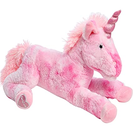 Amazon GirlZone Large 18 Pink Plush Stuffed Fluffy Unicorn Animal Ideal Birthday Present Gifts For Girls Aged 3 4 5 6 7 8 9 Years Old Toys Games