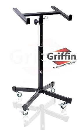 Mezclador de Rolling Studio portátil Soporte de mesa DJ Cart sobre ruedas teléfono Griffin: Amazon.es: Instrumentos musicales