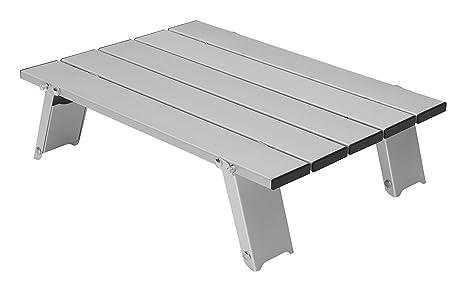 GRAND CANYON Mesa Micro de aluminio, pequeña mesa plegable para exterior, aluminio, plata, 308020