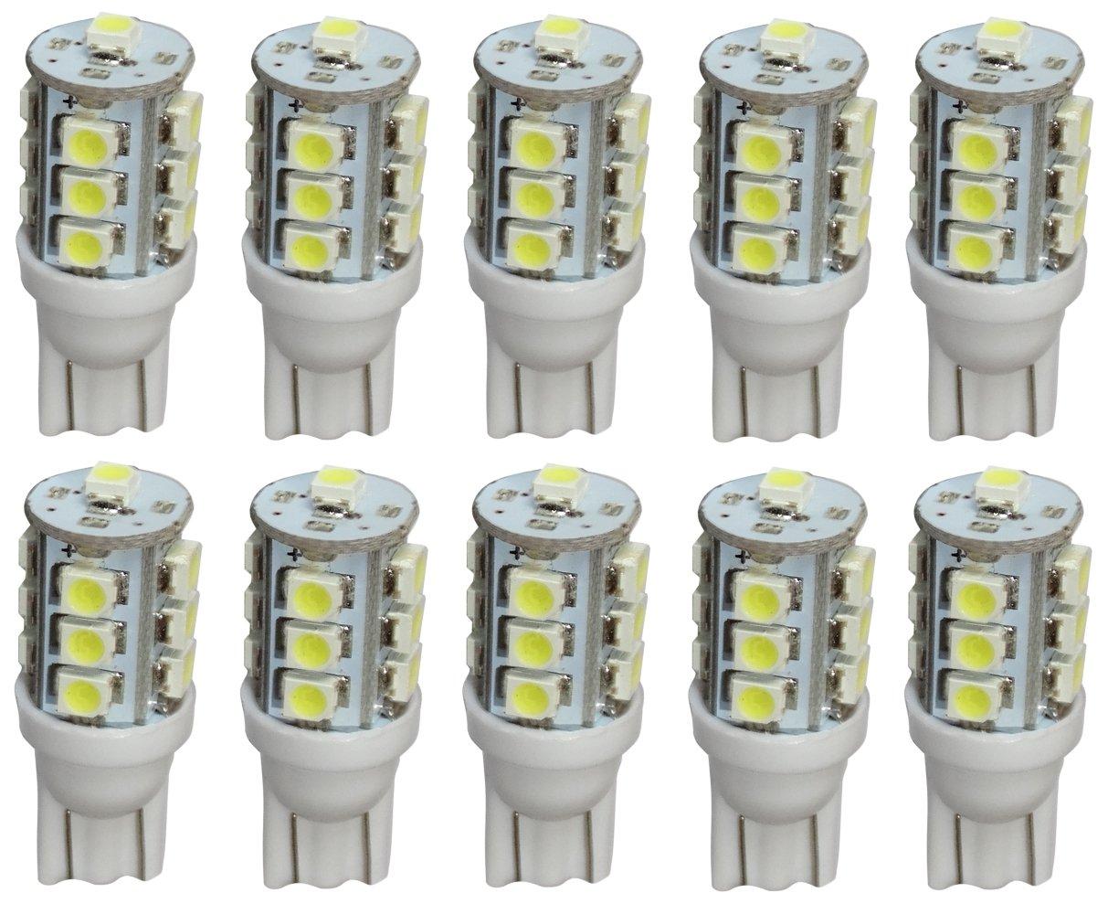 luz del techo AERZETIX: 10 x Bombillas T10 W5W 12V LED SMD azul para iluminacion interior luces umbrales de puertas del compartimiento del motor y del maletero luz de matricula