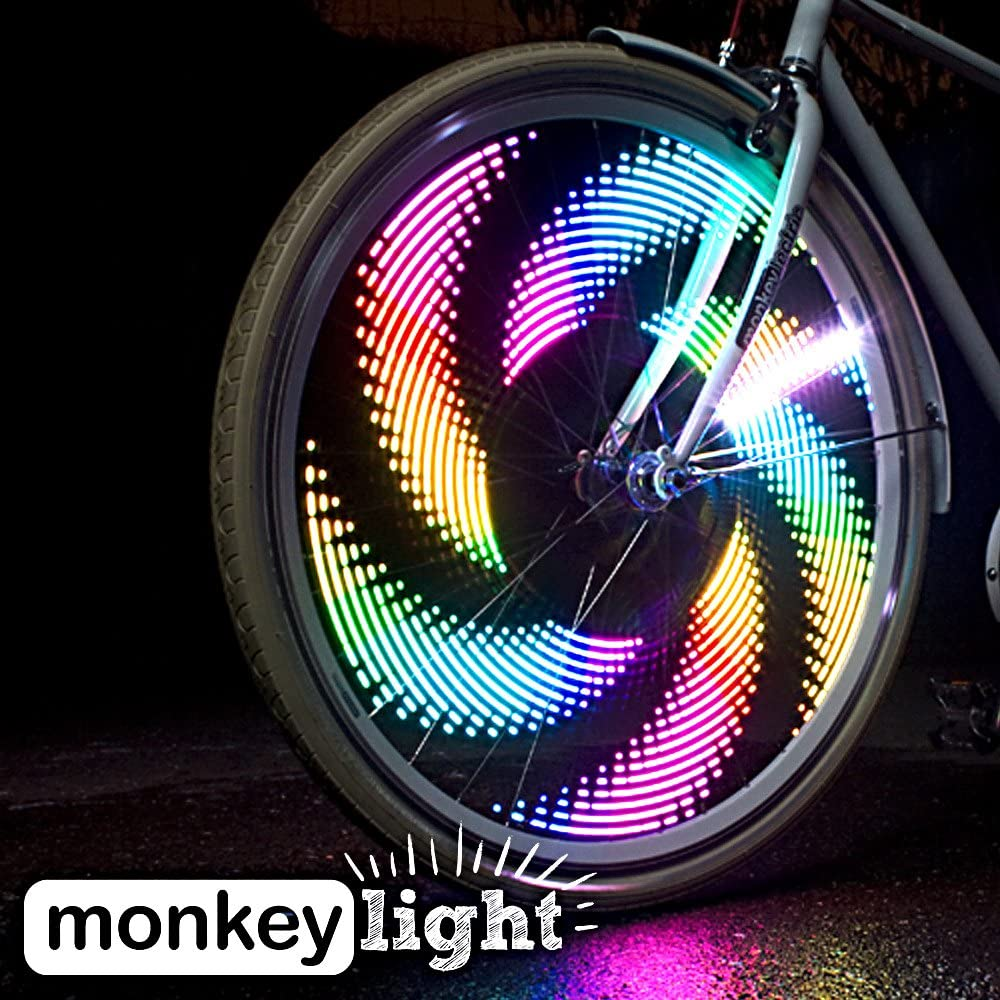 32 Pattern LED Colorful Bicycle Wheel Tire Spoke Signal Light For Bike Safety UK