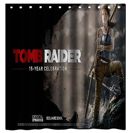 Galbreath Case Tomb Raider 23 100 Polyester Fabric Shower Curtain Standard Size Custom 60x72inch 150x180cm Amazoncouk Kitchen Home