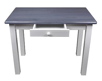 esstisch mit schublade küchentisch tisch massiv kiefer 80 x 60 cm ... - Küchentisch Mit Schublade
