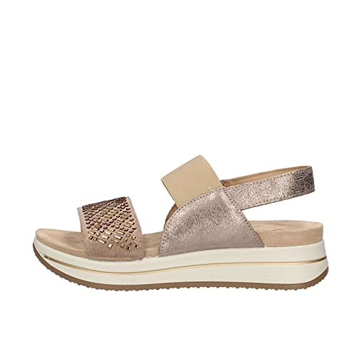 ItalyAmazon 11723 Pelle In Donna amp;co Sandalo Scarpa Igi Taupe Made SzMqUVp