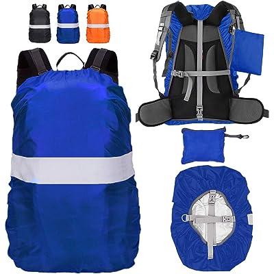 Hiwalker Funda para Mochila, Cubierta Impermeable de Mochila 15-65L Altamente Reflectantes Protectora Funda de Mochila Anti Polvo para Excursionismo Camping Viajar Actividades al Aire Libre