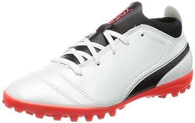 Puma Unisex-Kinder One 17.4 TT V Jr Fußballschuhe, Schwarz (Black-Black-Silver), 38 EU