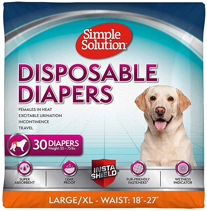 Leakproof and Absorbent Male Dog Wraps for Small Dogs Disposable Male Dog Wraps Size Small 12-19 Waist 12 Pack Disposable Dog Diapers for Male Dogs Martha Stewart for Pets Male Dog Wraps